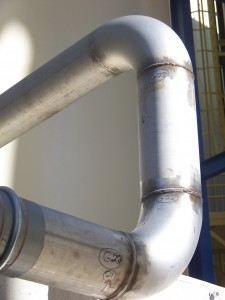 3006-11 O2 and SO2 Stainless pipe welding